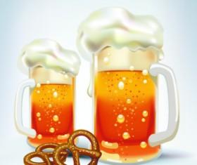 Beer design background vector 03