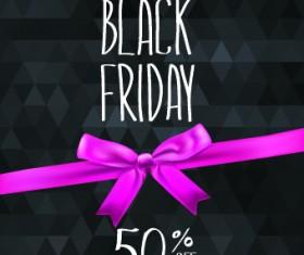Set of black friday sale elements vector 02