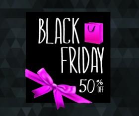 Set of black friday sale elements vector 04