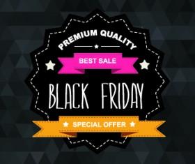 Set of black friday sale elements vector 05