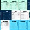 Calendar 2014 vector huge collection 90