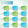 Best Calendars 2014 design elements vector 06