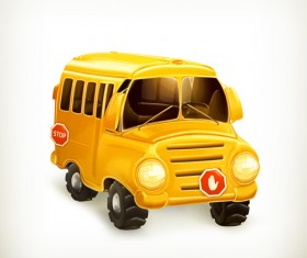 Cartoon Car Cute vector graphics set 01