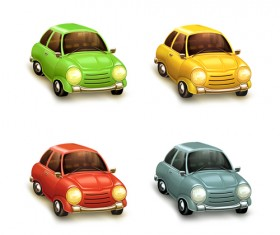 Cartoon Car Cute vector graphics set 04