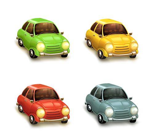 Cartoon Car Cute vector graphics set 04