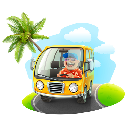 Cartoon Car Cute vector graphics set 05