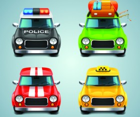 Cartoon Car Cute vector graphics set 08