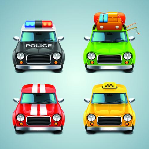 Cartoon Car Cute vector graphics set 08