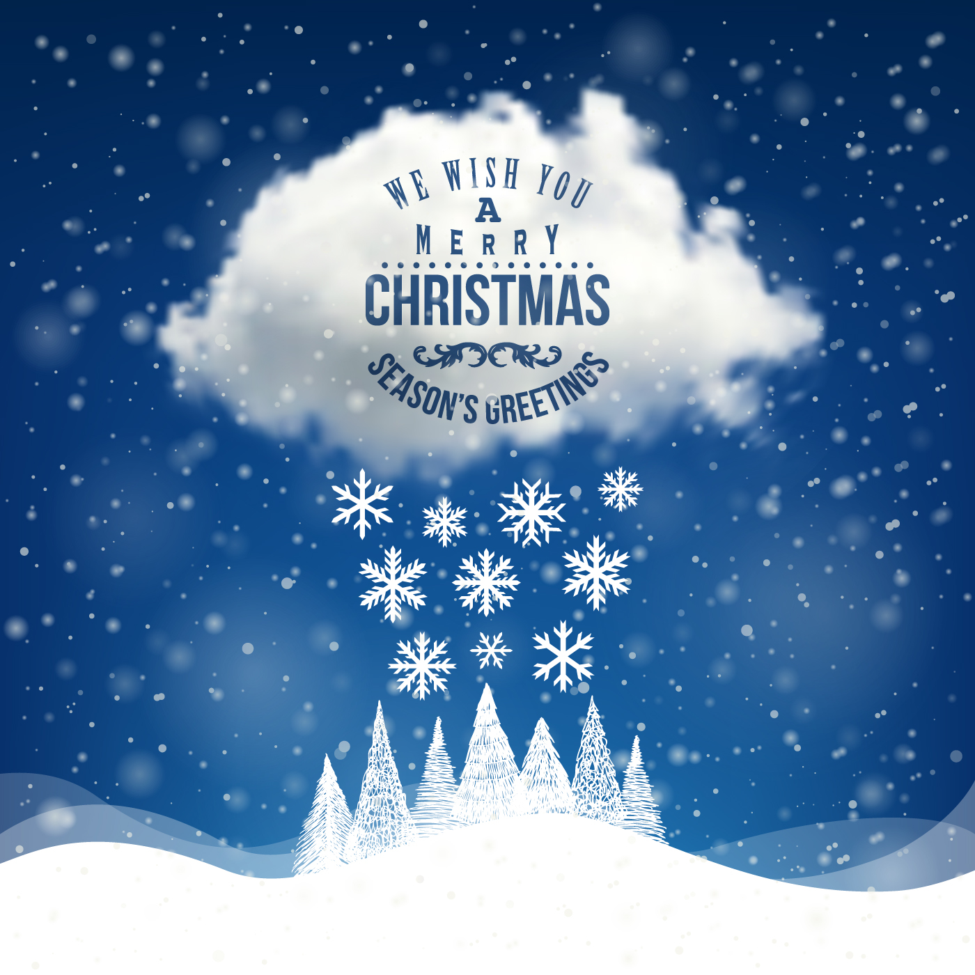winter holiday cards vector set 03 free download
