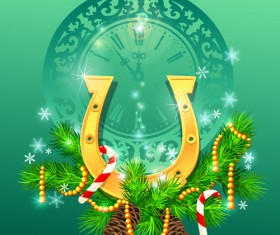 Christmas Pine needles vector background 01