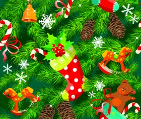 Christmas Pine needles vector background 02