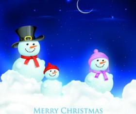 Christmas Snowman design elements vector 01