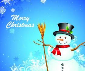 Christmas Snowman design elements vector 02