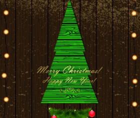 Christmas Wood background vector 01