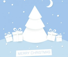 2014 Christmas paper cut backgrounds vector 04