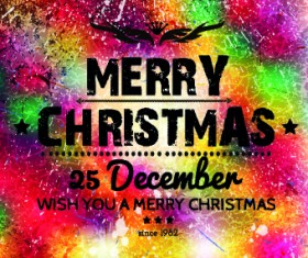 Christmas colorful grunge background vector