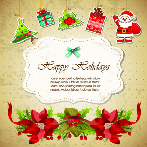 Christmas cute greeting cards design vector 01 free download christmas cute greeting cards design vector 01 m4hsunfo