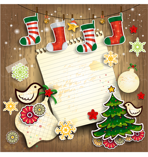 Christmas cute greeting cards design vector 06 free download christmas cute greeting cards design vector 06 m4hsunfo