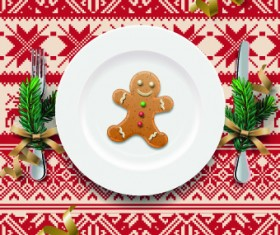 Christmas dining table background 01