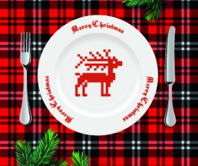 Christmas dining table background 02