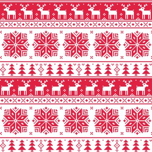 Christmas patterns vector set 03 - Vector Christmas ...