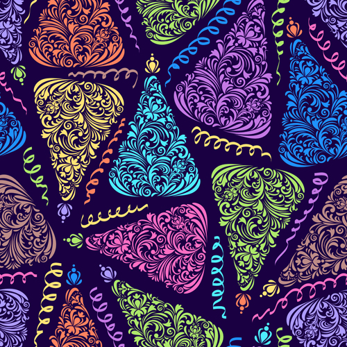 Christmas patterns vector set 04 vector christmas vector festival