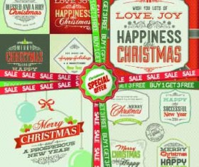 Christmas special offer labels vector 02
