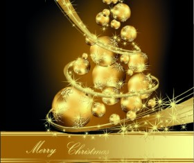 2014 Sparkling Christmas tree backgrounds vector 01