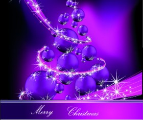2014 Sparkling Christmas tree backgrounds vector 03
