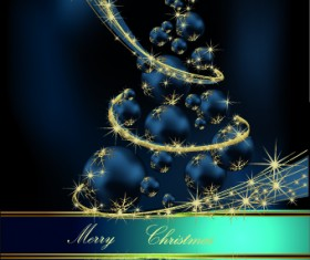 2014 Sparkling Christmas tree backgrounds vector 04