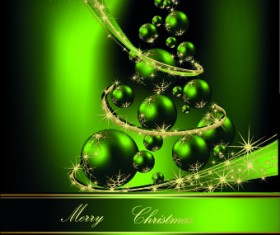 2014 Sparkling Christmas tree backgrounds vector 05