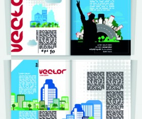City Magazine Cover vector 04