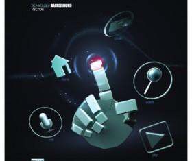 Creative Technology background vector 01