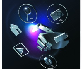 Creative Technology background vector 02
