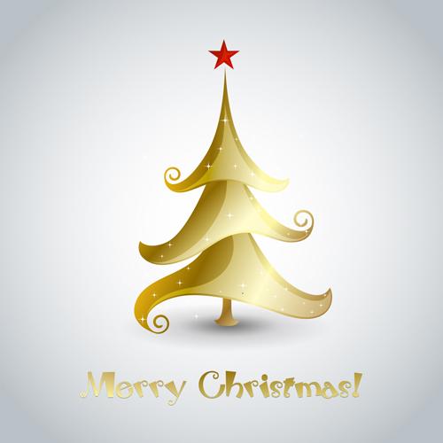 Creative xmas tree christmas cards vector 02 vector card for Creative christmas cards