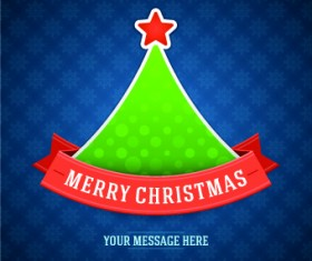 Cute Christmas tree backgrounds vector 01
