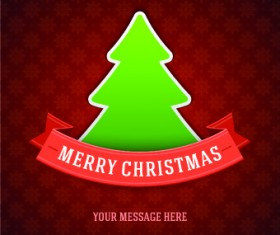 Cute Christmas tree backgrounds vector 02