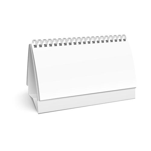 2014 Desk calendar design template vector 04 free download