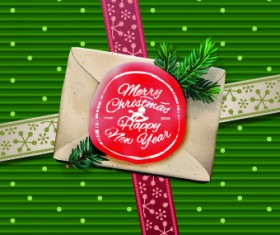 Envelop christmas cards vector