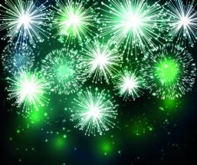 Beautiful Fireworks design vector background 03