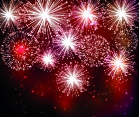 Beautiful Fireworks design vector background 04