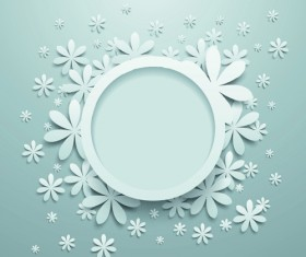 White Paper Flower vector 01