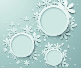 White Paper Flower vector 02