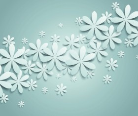 White Paper Flower vector 03