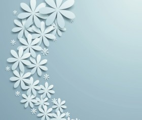 White Paper Flower vector 04