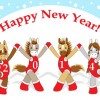 Funny Horses 2014 New Year design vector 03