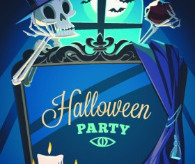 Halloween creative background vector 01