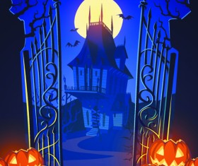 Halloween creative background vector 02