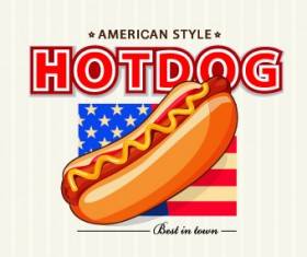 Hotdog background vector