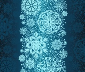 Christmas Snowflake Lace vector set 01